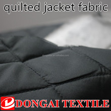 3 layer waterproof diamond design quilted jacket fabric for winter coat
