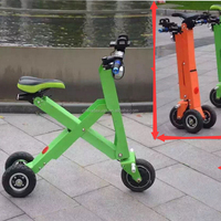Colorful folding three wheel electric scooter