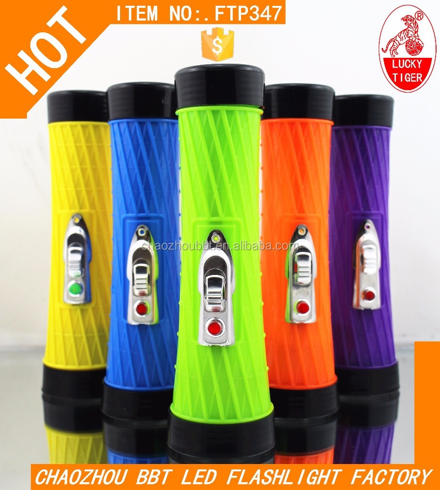 FTP387 Africa Colorful Led Novelty Flashlight For Dark