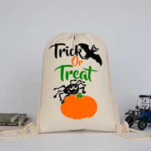 DM 838 New 2017 Cotton Personalized Candy Tote Party Shopping Halloween Goodie Bags