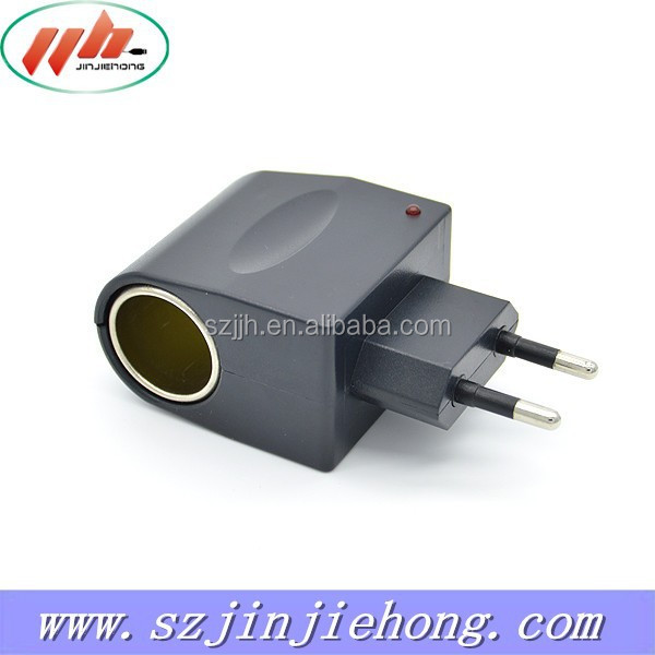 Universal AC to DC Car Cigarette Lighter Socket Adapter with US Plug 500mA