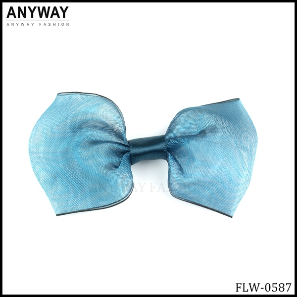 Lovely ribbon Blue Bowknot for Baby Headband Girl Headband Mini Poppies Baby Headband Girl Headband