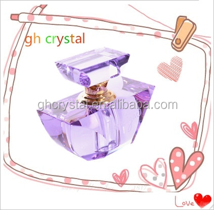 Beautiful Empty Crystal Rose Perfume Bottles