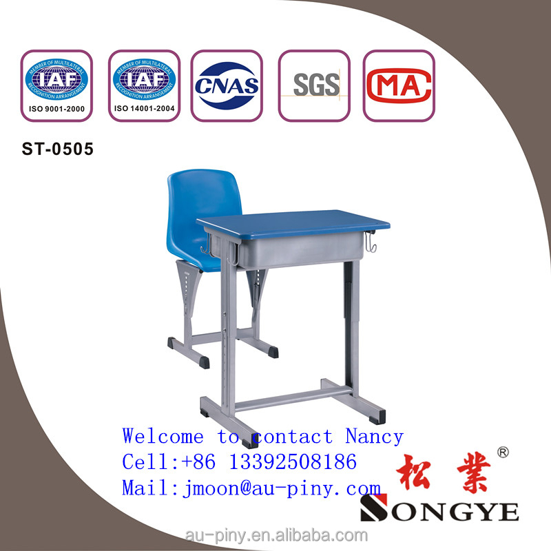 University classroom study desk with folding chair