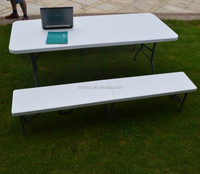 183cm lightweight simple plastic folding bench table