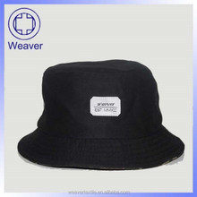 wholesale design your own black bucket hats