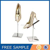 Metal Shine Silver Shoe Display Stands, Shoe Store Display Racks