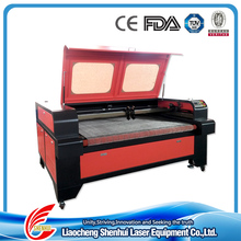 hot sale! auto feeding co2 laser cotton fabric/wool felt/leather cutting machine