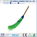 China Supplier grass broom with wooden handle used garden