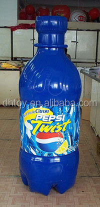 blue large inflatable beer drinking champagne bottle