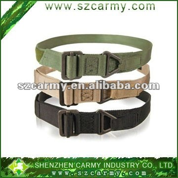 Durable military belts/ waistband, tactical Nylon belt with velcro