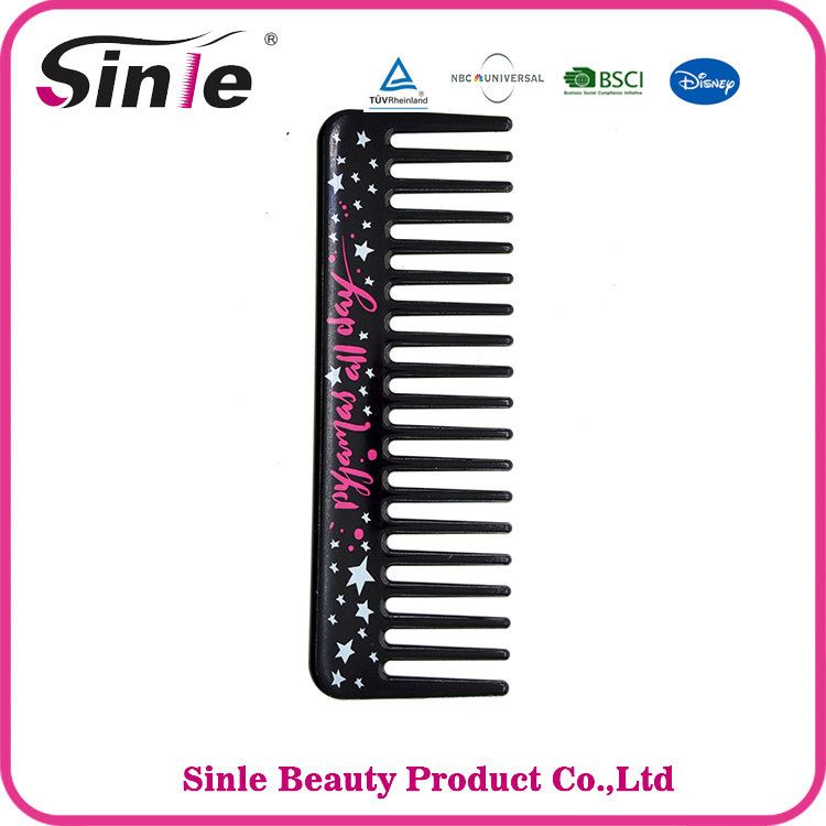Custom Promotional New Fashion plastic hair wide tooth comb