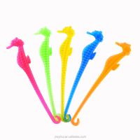 Disposable plastic seahorse coffee stirrers new design