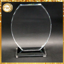 oval awards with black base for crystal graduation souvenirs