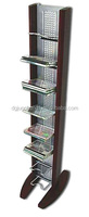 Practical wrought iron storage racks and shelves for media storage of CD, DVD or VHS.