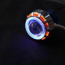 Reliable and Good U15 high power motorcycle headlight with 6 color angel devil eye driving lamp