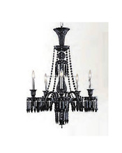 Crystal baccarat black chandelier imported from china