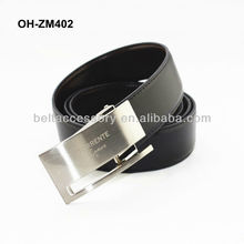 Unique black leather belts for man cow split in fashion style