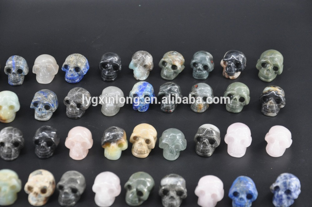 Different Kinds Of Color Folk Art Style Economical High Quality Apatite Quartz Crystal Skull