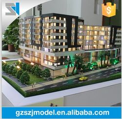 Physical model with lighting system, beautiful house model