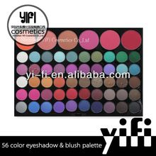 Professional manufacturer! 56 Color Makeup Palettes Eyeshadow + Glossy Blush eyeshdow sponge cosmetic products