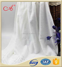 China 2016 New Style White Color 100% Cotton Dobby Thickened Hotel Bath Towel