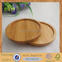Round bamboo coasters Bamboo mats High-quality bamboo pads