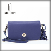 Handmade Popular Lady Leather Small Colorful Clones Handbags