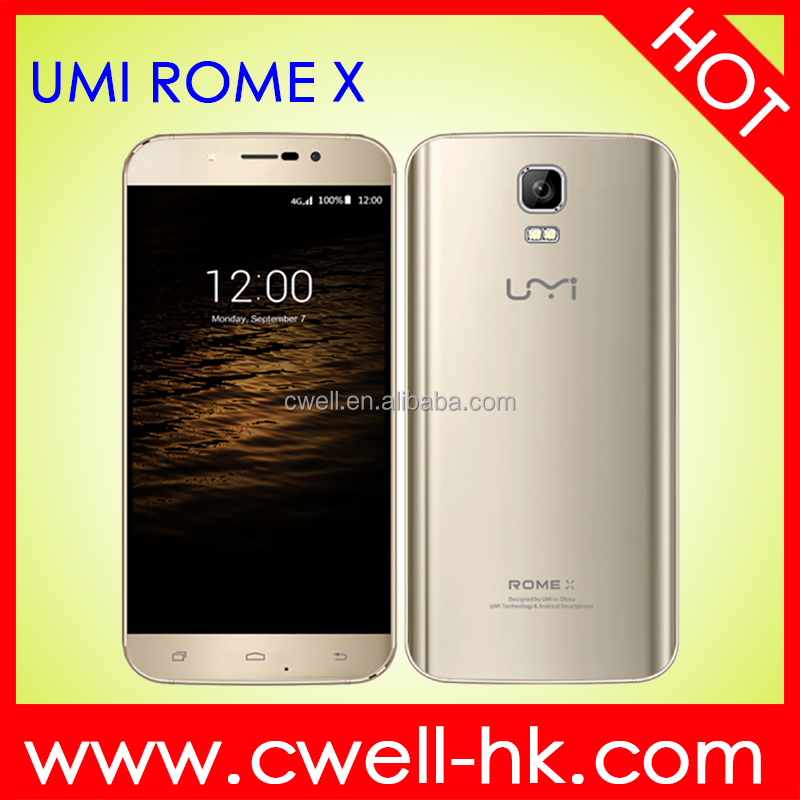 5.5 Inch Big Touch Screen MTK6580 Quad Core Android 5.1 2.5/5GHz Dual Band WiFi Umi Rome X mobile phone