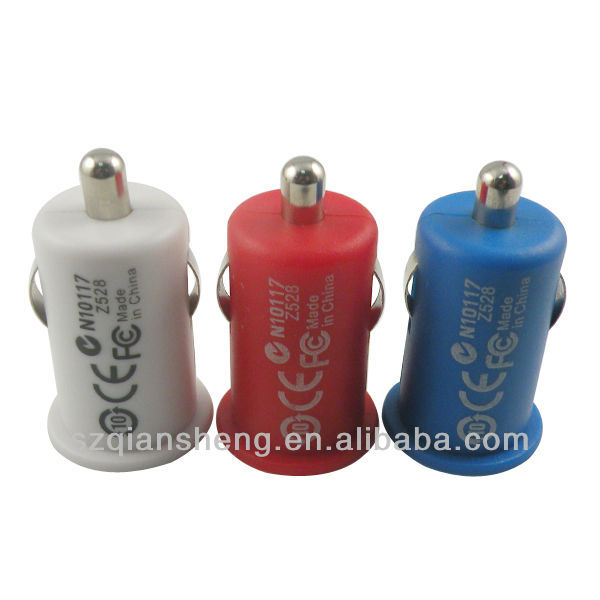 Universal colorful Micro Auto mini Car Charger for iPhone 4s for ipod