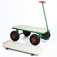 Covered Pull Cart Wagon with Seat