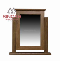 Solid Oak living room furniture home usage wood SINGLE D/TABLE MIRROR(KNPDM)