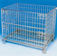 Metal rolling welded wire mesh dog storage cage