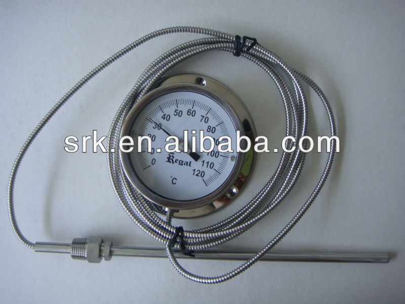 pressure thermometer SS Capillary thermometer