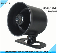 DC6-15V 1or 6 Tone Car Reversing Backup Alarm ,15W/20W/25W Car Warning Safety Siren horn with CE