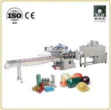 Heat Tunnel Automatic Flow Pack Shrink Wrapping Machine for Cup Packaging