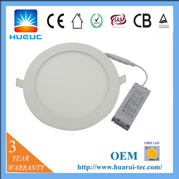 Standard sizes price damming outdoor cob ceiling ultra slim 18w rgbw ip20 ul round led panel light