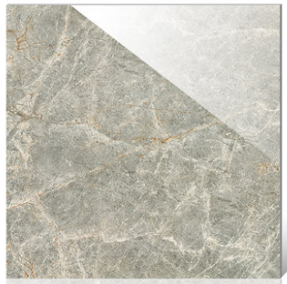 800x800 Grey Color Full Polished Glazed Ceramic Floor Tile