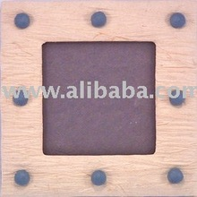 Handmade SAA Studs Padded Batik Square Photo Frames