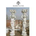 carving gazebo used marble statues column