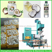 Large capacity cold pressed coconut oil expeller with coconut oil filter