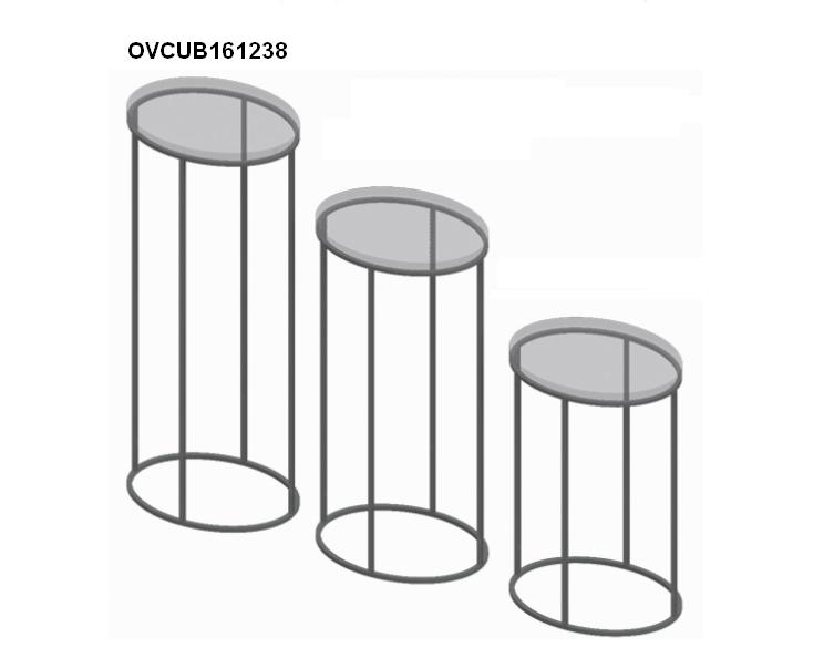 Oval display riser Promotion oval table Acrylic display riser