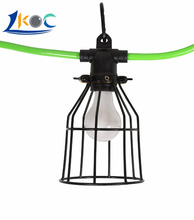 UL/ETL/CSA Listed Temporary Construction Outdoor String Light/Lighting String With Metal Cage