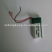 PL401235/pl302323 130mah 3.7v li-polymer rechargeable battery