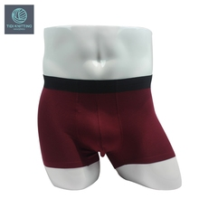 OEM Brand Logo Solid Color mens boxer briefs sexy men boxers and underwear