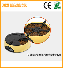2015 New wholesale 6 food trays automatic dog feeder with sound recorder timed food supply
