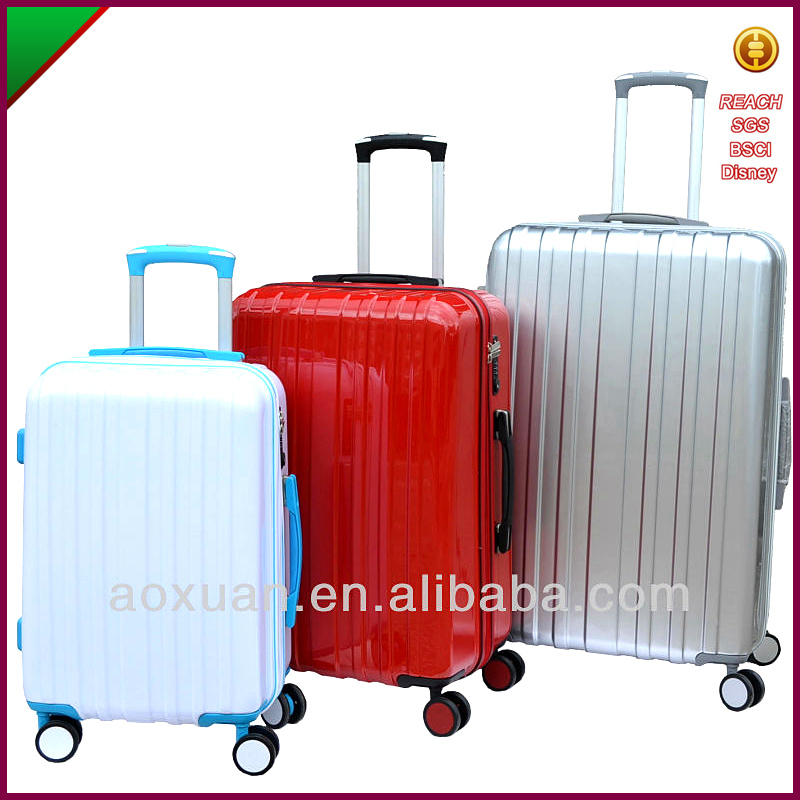 2017cool personalized fashion travelling trolly hard case luggage sets for girls