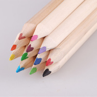 lowest price nature wooden colored pencil with logo customized
