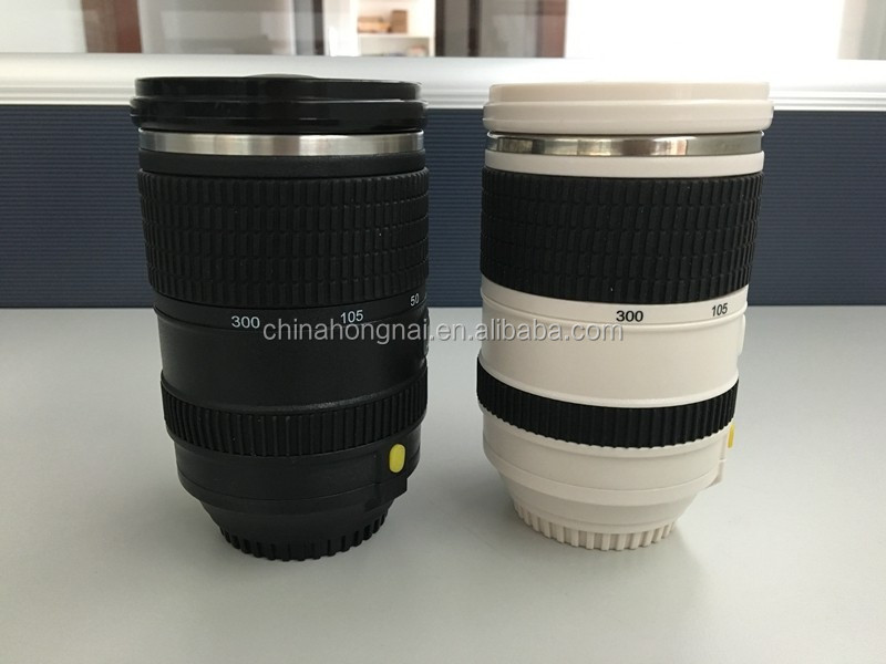 camera lens mixing cup/automatic coffee mixing mug/stainless steel batteries stirring cup