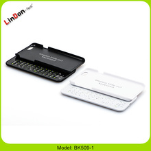 Removable Sliding Keyboard Case Wireless Bluetooth Keyboard with Back Hard Case for iPhone 6/6S